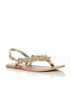 NEW LOOK Gold (Gold) Wide Fit Gold Diamante Woven Strap Sandals | 279611293 | New Look
