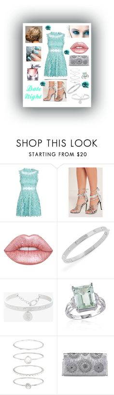 """""""Teal Beauty"""" by snowflakeunique ❤ liked on Polyvore featuring Topshop, Missguided, Kori, Lime Crime, Kate Spade, BCBGeneration, Belk & Co., Accessorize, Lancôme and Tory Burch"""