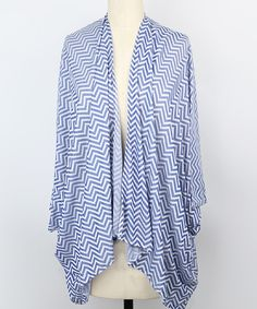This Steve Madden Royal Chevron Ruana by Steve Madden is perfect! #zulilyfinds