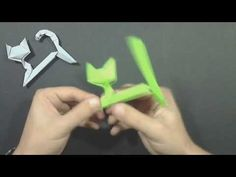 Origami Cat by Richard Wang (modification by Yakomoga) - Yakomoga Origami tutorial - YouTube