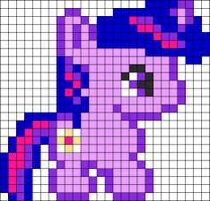 Baby Twilight Sparkle Hama Perler Bead Pattern