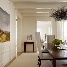 Color of walls/trim: Grey Mist/Simply White San Francisco Residence - contemporary - Dining Room - San Francisco - Stone Interiors