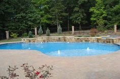 Backyard Oasis Pools - Photos of Raleigh - Cary - Wake Forest - Durham - Chapel Hill | Custom In Ground Geometric Swimming Pools