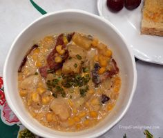 Slow Cooker Potato Corn Chowder with Bacon - Dairy Free :)