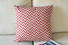 red chevron pattern printedPillow Pillow cover by SweetyFairy, $19.90