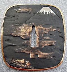 Blackened Bronze construction Tsuba Samurai Weapons, Katana Swords, Samurai Swords, Kendo, Martial, Musashi, Art Japonais, Japanese Sword, Japan Art