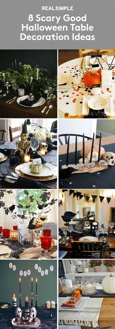 8 Scary Good Halloween Table Decoration Ideas | If you're hosting a Halloween dinner party, impress guests by taking a cue from these expertly crafted tables.
