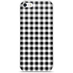 Black White Gray Gingham Design iPhone 5/5s/Se, 6/6s, 6/6s Plus Case... (130 DKK) ❤ liked on Polyvore featuring accessories, tech accessories, phone cases, phones, phonecase and electronics