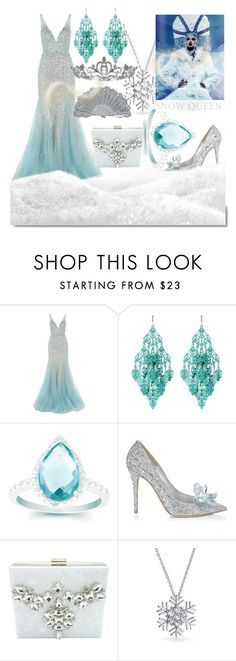 """""""Deep In The Snow"""" by egordon2 ❤ liked on Polyvore featuring Jovani, Amrita Singh, La Preciosa, Jimmy Choo, t+j Designs, White Label, Bling Jewelry and Kate Marie"""