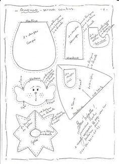 moldes de duendes navideños Resultado de imagen para moldes de duendes n. Christmas Applique, Christmas Sewing, Felt Christmas, Christmas Baubles, Handmade Christmas, Christmas Crafts, Christmas Decorations, Felt Crafts Patterns, Pinterest Crafts
