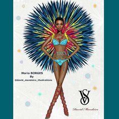 "@iammariaborges at @victoriassecret Fashion Show by David Mandeiro. ""Firework"" 🎆🎆 Kiss Baby 💋💋 #davidmandeiroillustrations #mariaborges #artsdistrict #victoriassecret #victoriasecretangels #victoriassecretfashionshow #artsdistrict #artiste #arts_gallery #artshow #arts_help #styliste #artstagram #fierce #firework #fashion #fashionista #fashionshow #fashionblogger #fashiondrawings #amazing #amazingillustrations #illustrations #dessins #dibujos #dibujoscreativos #misdibujos #dessinsdemode"