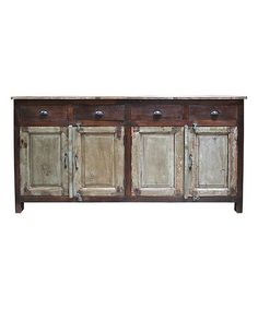 Love this Brown Reclaimed Wood Credenza on #zulily! #zulilyfinds