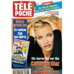 """Cameron Diaz tourne film sur film : """"Les hommes, c'est mon point faible"""", dans Télé Poche n°1786 du 02/05/2000 [couverture mise en vente par Presse-Mémoire]"""
