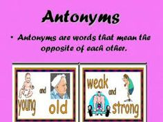 28 Best Antonyms Images Languages School Synonyms Antonyms