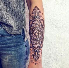 Top of forearm tattoo.  Mandala