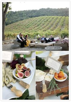 What an amazing view! Wine country wedding via 100 layer cake. Photography by Laura Murray.