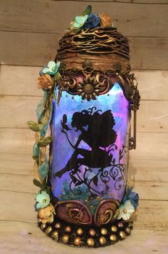 Excited to share this item from my #etsy shop: Handmade silhouette 8 inch beautiful fairy jar . Battery Lights, T Lights, Fairy Jars, Power Colors, Fairy Gifts, Handmade Jewelry Box, Color Changing Lights, Baby Fairy, Beautiful Fairies