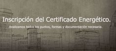 Registro del Certificado Energético - Documentos necesarios
