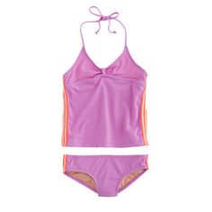 J.Crew - Girls' tankini set with racing stripes