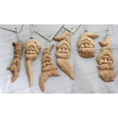 Woodcarved ornament- Crooked Santa