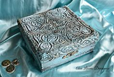 vintage antique handmade jewelry box by Adisa Lisovac Decoupage
