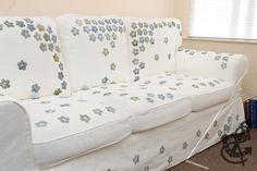 Ikea's Ektorp Sofa - Hand Stamped