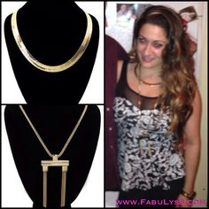 Paired these two necklaces together for New Years Eve. Rihanna inspired.   Jewelry affordable fashion style gold fabulyss