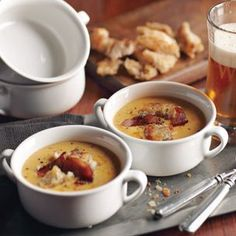 Cheddar-Ale Soup.  OMG Sounds amazing!