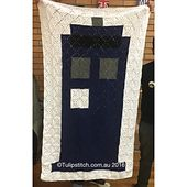 Basic Tardis Blanket - free crochet pattern by Heidi Ross / Tulipstitch. Constructed from crochet squares. Crochet Tardis, Doctor Who Crochet, Crochet Geek, Free Crochet, Crochet Squares, Old And New, Crochet Projects, Ladder Decor, Free Pattern