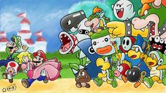 Made in Art Academy: Sketchpad for Wii U Super Mario Bros. New Super Mario Bros, Super Mario 3d, Super Mario World, Super Mario Brothers, Pichu Pokemon, Mario Y Luigi, Mario All Stars, Mario And Princess Peach, Lion King Pictures