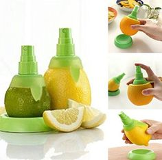 This screw top turns your lemons and limes into a spray top! So easy to flavor drinks or season meat or salads  Find it here: http://amzn.to/2kxWEpW