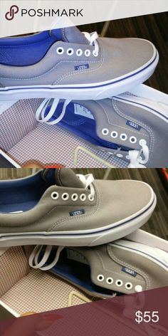 4d6d8cdfac52fb Shop Men s Vans Gray Blue size 9 Sneakers at a discounted price at Poshmark.