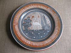 "New Item!!! Vintage Mexico Tonala Pottery Plate  15-1/2"" Burnished Pottery-Amado Galvan Primitive...Reshopgoods by Reshopgoods on Etsy"