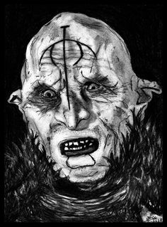 Orc in Lord of the Rings. 7 hours of work.