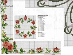 Вышивки крестом схема роза