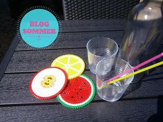 ULRIKES SMAATING: DIY: Fruchtige Abdeckung für Eure Sommergetränke