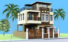 PRICE: Plan Purchase - P Sets of Blueprint signed & sealed . Loft House Design, 3 Storey House Design, Bungalow Haus Design, Two Story House Design, Simple House Design, Style At Home, Flat Roof Design, Bedroom Minimalist, Minimalist House