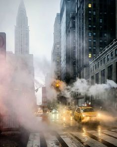 Steam Pipes in Manhattan by Chandle Lee