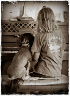 """I'm grateful that my daughter can have a companion, as she has to sit through the torture of practicing! (She was much more willing as our little Rex sat next to her).  Nancy from UT/USA 8.18.12   """"Gratitude through photography"""" ~ #365Grateful #Gratitude #Photography #PhotoOfTheDay"""