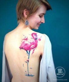 23 Tatuagens de Flamingo Para Amar – Grazi Costa