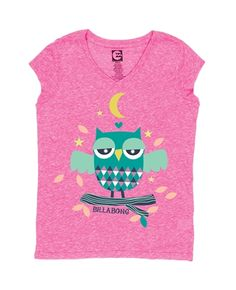 Billabong OWL LOVE YOU SHORTS SLEEVE SHIRT - Pink Punch - G4353OWL | Billabong US