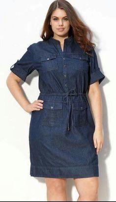 Vestido corto de Mezclilla