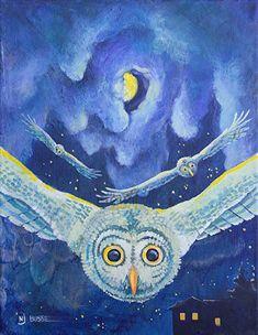 "Illustrators International: Wildlife Painting, Owl, Children's Illustration ""O..."