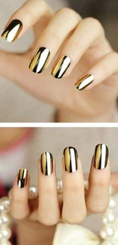 Trendy Nail Art With Nail Sticker Patches #trending ==