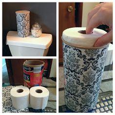 Apartment Bathroom Makeover Toilet Paper 42 Ideas For 2019 Hidden Toilet, Toilet Paper Storage, Dorm Organization, Apartment Design, Amazing Bathrooms, Diy Design, Bath Design, Bath Room, Cardboard Furniture