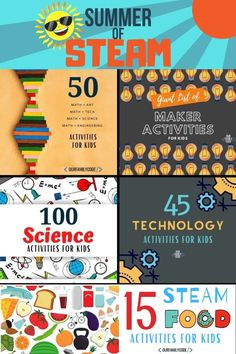 100s of activities for Math Monday, Tinker Tuesday, Wonder Wednesday, Techie Thursday, and Foodie Friday! #STEAMkids #STEM #STEMeducation #homeschooling #makeractivities #scienceforkids #mathforkids #teachkidstocode