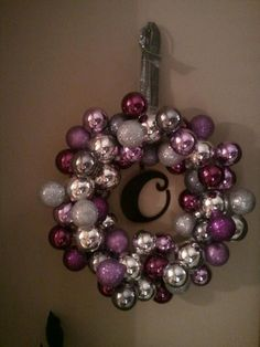 Christmas ball wreath.