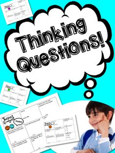 Questions that can be used with any kind of text and REALLY GET KIDS TO THINK DEEPLY!  ....Thinking Questions
