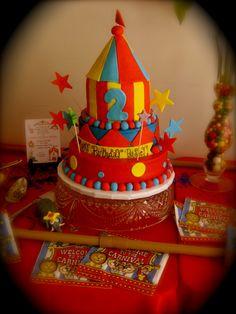 Circus Birthday Party! Kameron's 2nd birthday cake