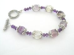 Purple Valentine Bracelet Purple Fluorite by 2012BellaVida on Etsy, $20.00
